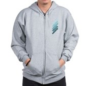 Stacked Obama Blue Zip Hoodie