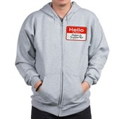 Obama Supporter Name Tag Zip Hoodie