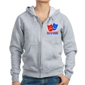 Vote Obama: No Drama! Women's Zip Hoodie