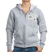 In 1492 cannibals ate... Women's Zip Hoodie