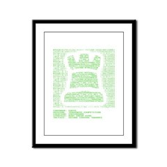 Chess Matrix Framed Panel Print