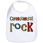 Chihuahuas Rock Dog Owner Lover Bib