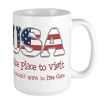 USA: Wouldn't Live There Large Mug