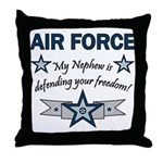 Air Force Nephew Defending Throw Pillow