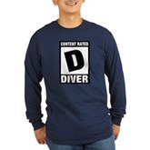 Rated D: Diver Long Sleeve Dark T-Shirt