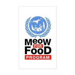 Meow For Food Program Sticker (Rectangle)