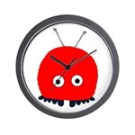 Red Wuppie Wall Clock