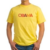 Obama Flowers Yellow T-Shirt