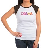 Obama Flowers Women's Cap Sleeve T-Shirt
