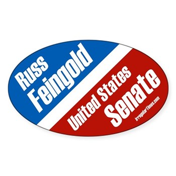 Russ Feingold for U.S. Senate progressive patriots oval bumper sticker