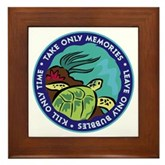 Take Only Memories (turtle) Framed Tile