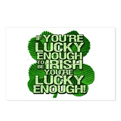 Lucky Enough To Be Irish Postcards (Package of 8)