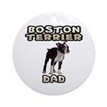 Boston Terrier Ornament for Dad