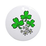 Irish Shamrocks Ornament (Round)