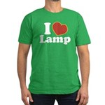 I Love Lamp Men's Fitted T-Shirt (dark)