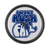 I Want Rush to Fail Large Wall Clock