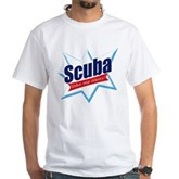 Scuba Take Me Away White T-Shirt