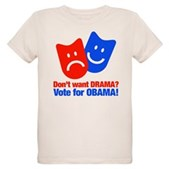 Vote Obama: No Drama! Organic Kids T-Shirt