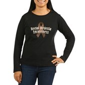 Rectal Dyslexia Awareness Women's Long Sleeve Dark