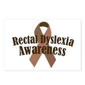 Rectal Dyslexia Awareness Postcards (Package of 8)