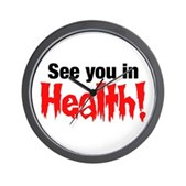 See You In Health! Wall Clock