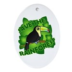 Save the Rainforest Ornament (Oval)