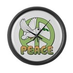 Birdorable Peace Dove Large Wall Clock