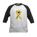 Support our Troops Yellow Ribbon Kids Baseball Jer
