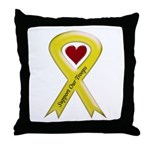 Support our Troops Yellow Ribbon Throw Pillow