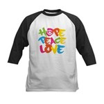 Hope Peace Love Kids Baseball Jersey