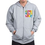 Hope Peace Love Zip Hoodie
