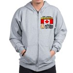 Canada Severed Foot Zip Hoodie
