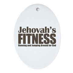 Jehovah's Fitness Ornament (Oval)