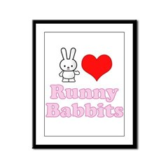 I Love Runny Babbits Framed Panel Print