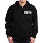 Member of the Bored Zip Hoodie (dark)