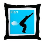 iFart Funny Spoof Throw Pillow