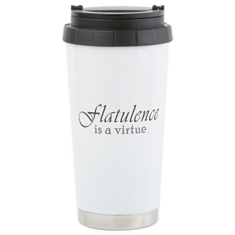 Flatulence is a Virtue Stainless Steel Travel Mug