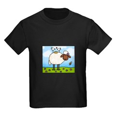 Spring Sheep Kids Dark T-Shirt
