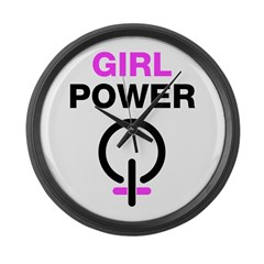 Girl Power Symbol Large Wall Clock