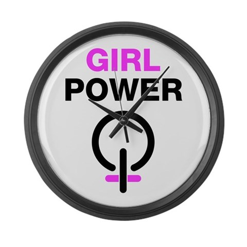 Girl Power Large Wall Clock