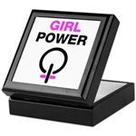 Girl Power Symbol Keepsake Box