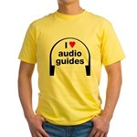 I Love Audio Guides Yellow T-Shirt