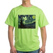 Starry Dove Green T-Shirt