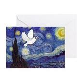 Starry Dove Greeting Card
