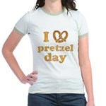 I Pretzel Pretzel Day Jr. Ringer T-Shirt