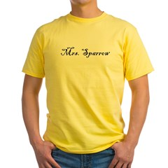 Mrs. Sparrow Yellow T-Shirt