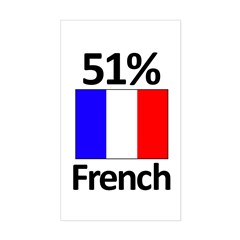 51% French Sticker (Rectangle)