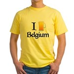 I Love Belgium (Beer) Yellow T-Shirt