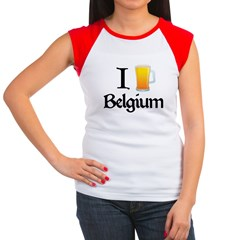 I Love Belgium (Beer) Women's Cap Sleeve T-Shirt