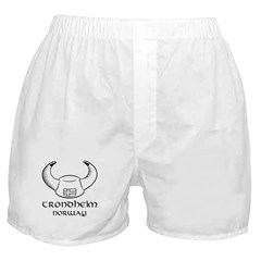 Trondheim Norway Viking Hat Boxer Shorts